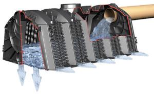 Резервуар с фильтрующими полями