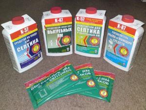 Химические средства для выгребных ям