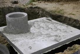 Бетонная плита для сливной ямы