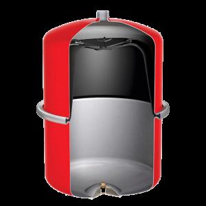 Бак для водоснабжения со стационарной мембраной