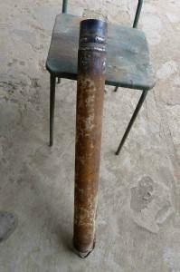 Желонка с плоским обратным клапаном