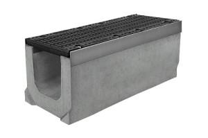 Лоток водоотводный бетонный с решеткой щелевой чугунной