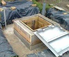 Монолитный бетонный кессон