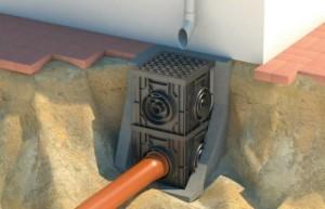 Монтаж точечного колодца для водосбора