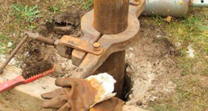 Прокол верхних слоев грунта обычной трубой