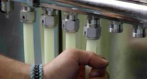 Подключение труб к коллектору