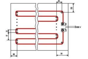 Схема обогревателя типа «Доброе тепло»