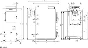 Чертежи пиролизных котлов Viessmann на 25 - 40 кВт