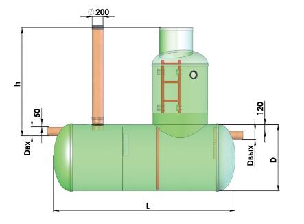 Конструкция горизонтального уловителя Flotenk OJ