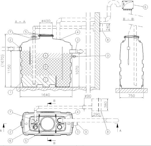 Конструкция уловителей WAVIN EuroREK SL
